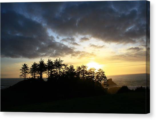 Sunset At Ecola Point Canvas Print