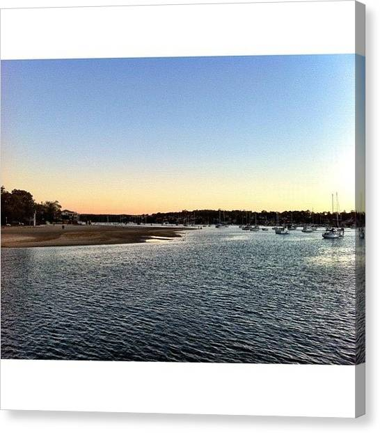 Saints Canvas Print - Sunset At Gunnamatta #iphoneography by Kendall Saint
