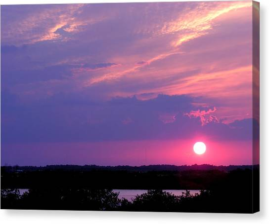 Sunset At Merritt Island Canvas Print