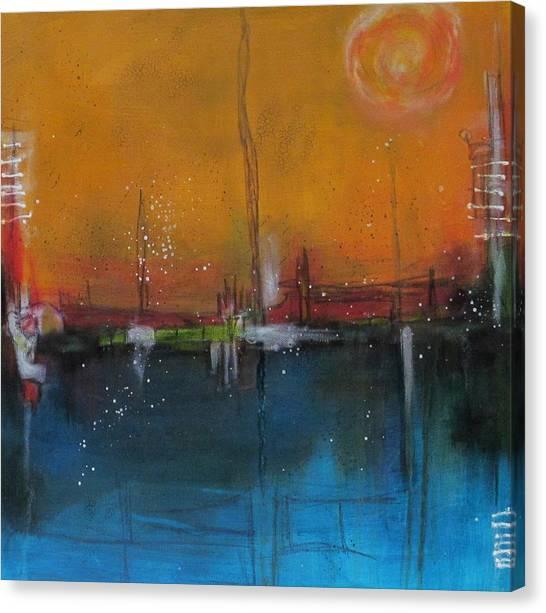 Sunset At The Lake # 2 Canvas Print