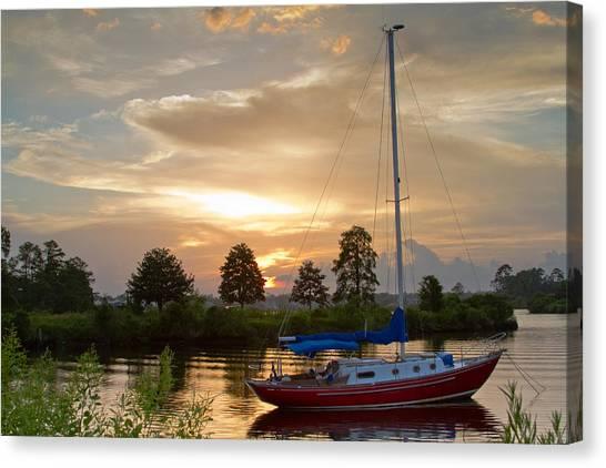 Sunset Bay Canvas Print by Diane Carlisle