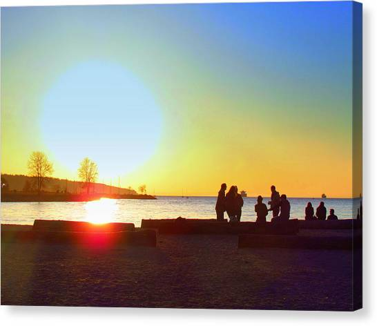 Sunset Beach Party Canvas Print