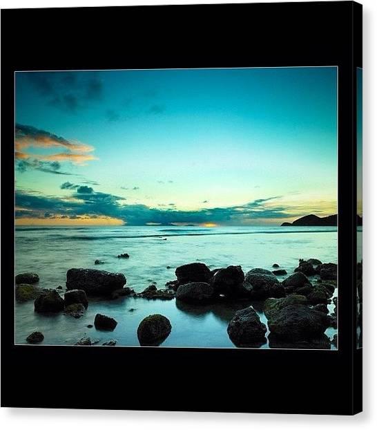 Volcanoes Canvas Print - #sunset #beautifulsky #beautiful by Alex Portman