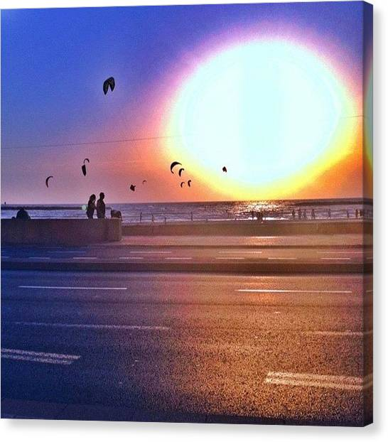 Israeli Canvas Print - #sunset #bestoftheday #cloudporn by Asaf S