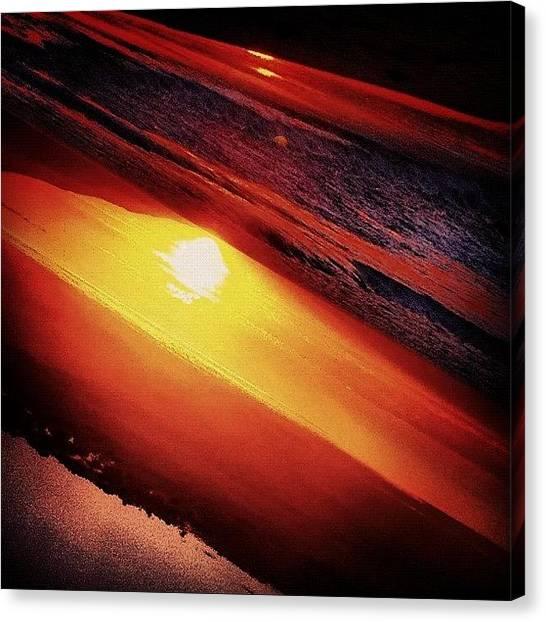 Beach Sunsets Canvas Print - #sunset #california #instamood #beach by Molly Wedgwood