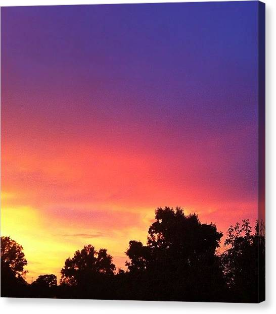 Rainbows Canvas Print - Sunset by Cassie OToole