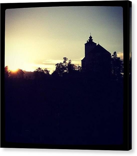 Soda Canvas Print - Sunset Castle by Soda Love
