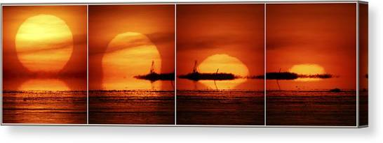 Sunset Horizon Canvas Print - Sunset, Composite Image by Pekka Parviainen
