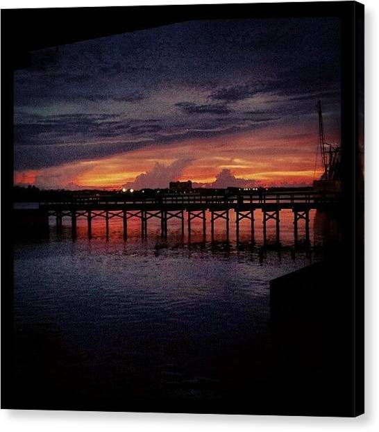 Florida Canvas Print - #sunset #dock #awesome #doubletap by Mandy Shupp