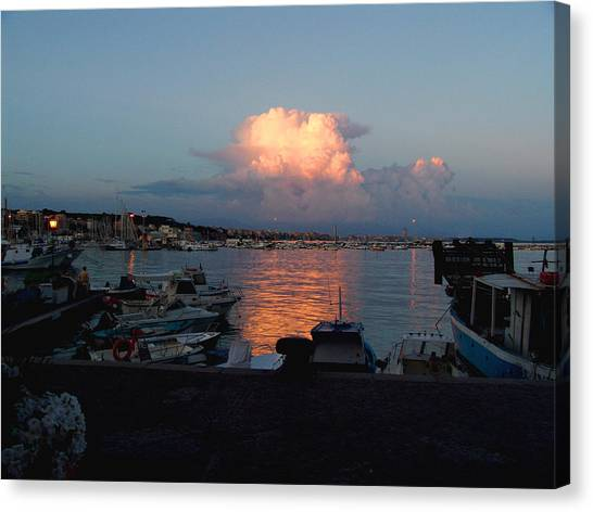 Sunset From Anzio Canvas Print