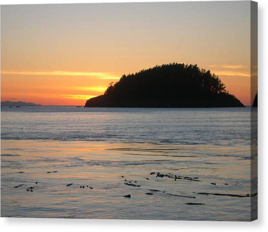 Sunset From Deception Pass Canvas Print