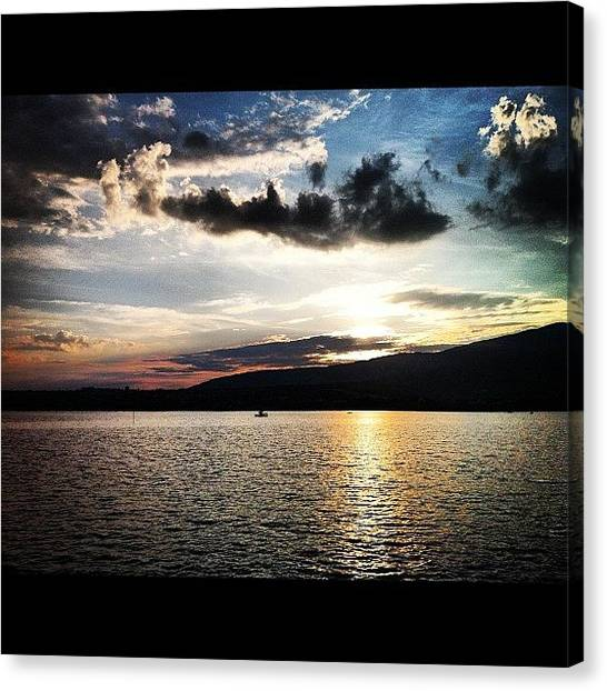 Lake Sunrises Canvas Print - Sunset by Gergely Maller