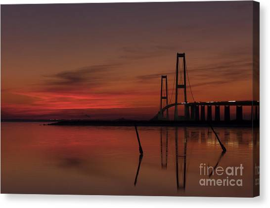 Sunset Great Belt Denmark Canvas Print