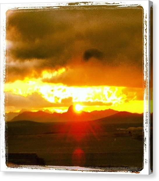 Bases Canvas Print - Sunset In Afghanistan by Cody Barnhart