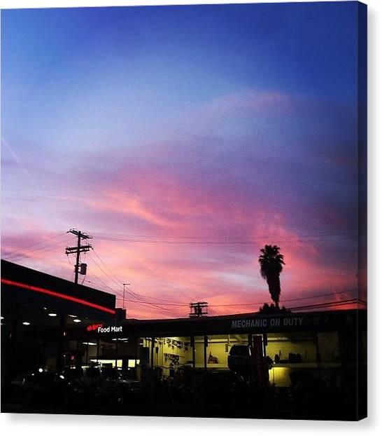 Hips Canvas Print - Sunset In Hollywood...#iphone #iphone4 by Loghan Call