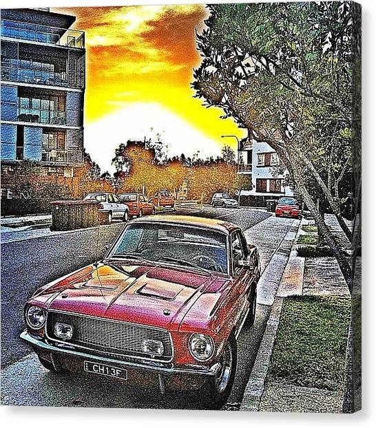 Ford Canvas Print - Sunset In Little Bay.... #muscle by Emily Hames