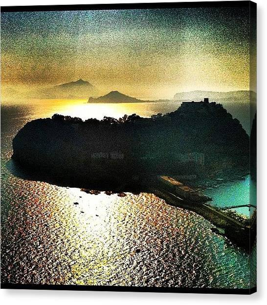 Europa Canvas Print - Sunset In Nisida Napoli by Gianluca Sommella