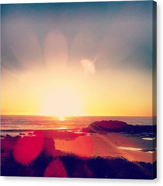 Sunsets Canvas Print - #sunset In Pescadero by Ariane Moshayedi