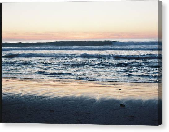 Sunset In Sand Canvas Print by Trent Mallett