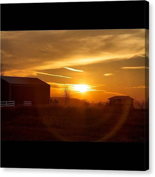 Wisconsin Canvas Print - #sunset In The #country_side. #country by Aran Ackley