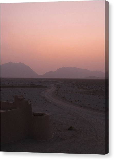 Sunset In The Persian Desert Canvas Print by Tia Anderson-Esguerra