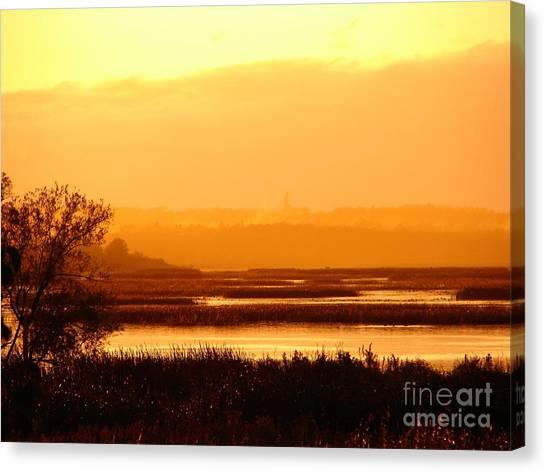 Sunset In The Rain Canvas Print