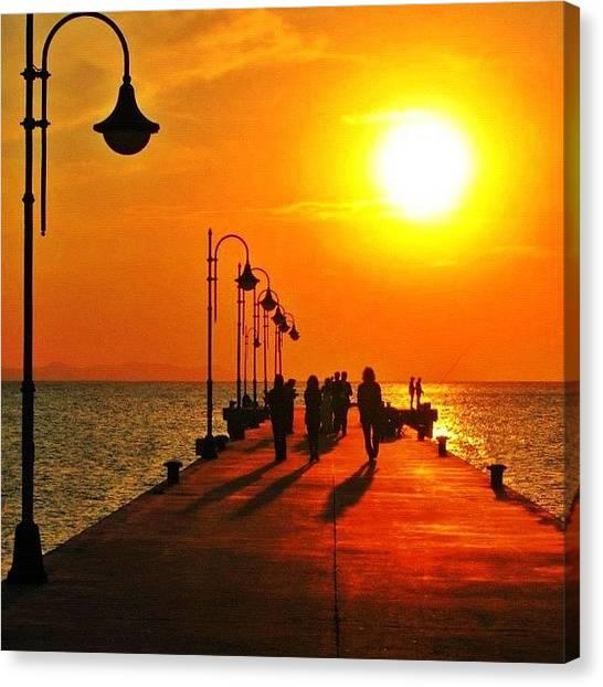 Canvas Print - Sunset In Torregaveta Napoli Italia by Gianluca Sommella
