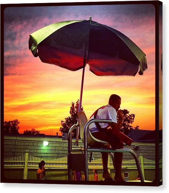 Lifeguard Canvas Print - Sunset In Westchester by Trey Rucker