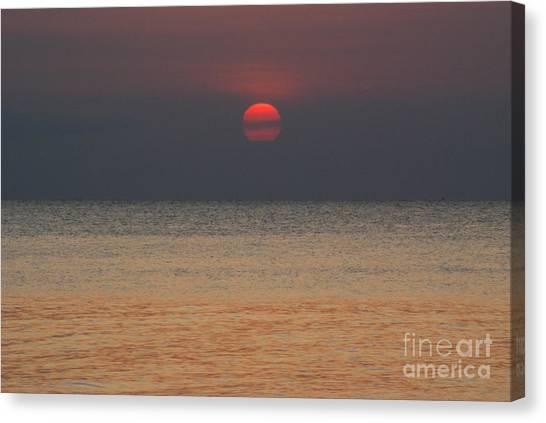 Sunset In Zanzibar Canvas Print by Alan Clifford