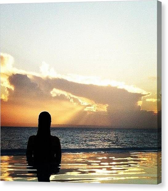 Mermaids Canvas Print - Sunset #iphone #iphone4 by Luis Florentino