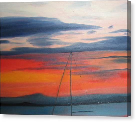 Sunset Canvas Print by Iris Nazario Dziadul