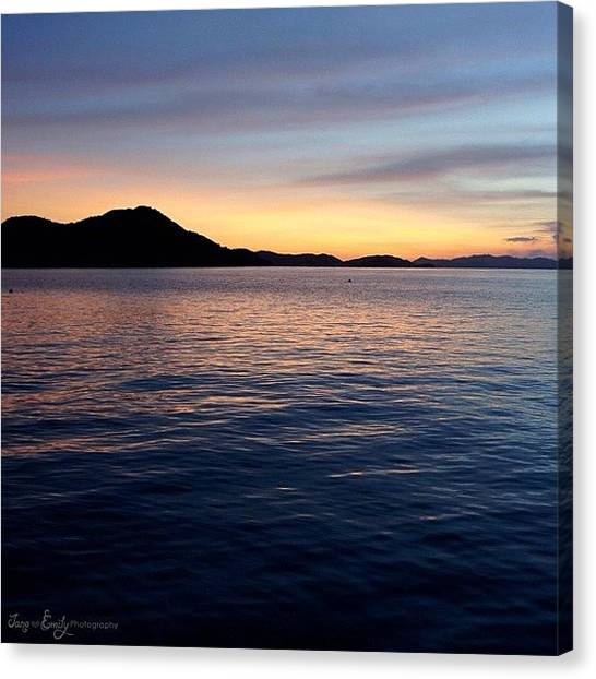 Ocean Sunsets Canvas Print - Sunset Islands by Jane Emily