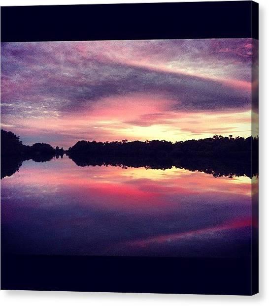 Lake Sunrises Canvas Print - Sunset  by Joe Reidy