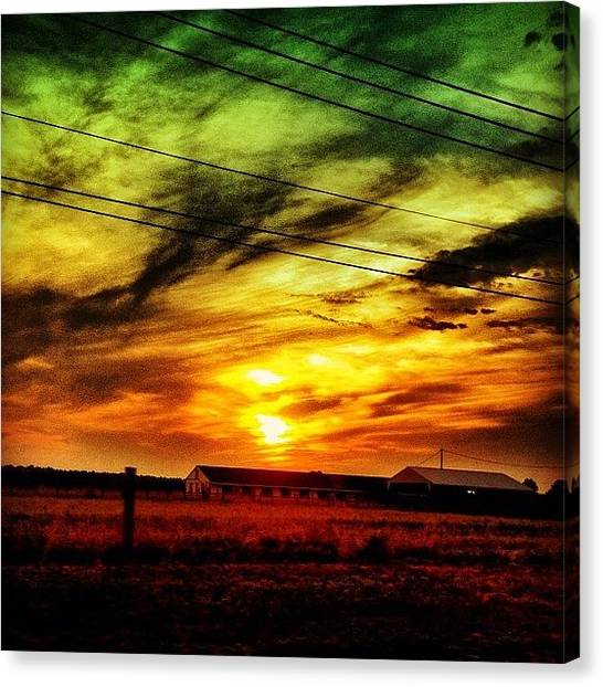 Yellow Canvas Print - Sunset by Katie Williams