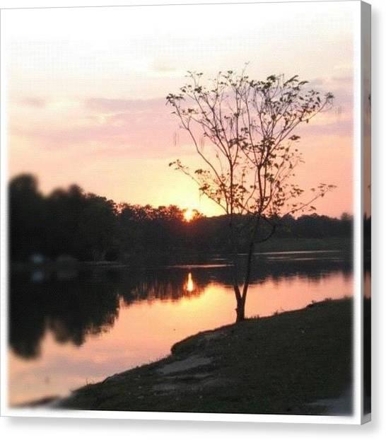 Lake Sunsets Canvas Print - Sunset by Kristina Parker