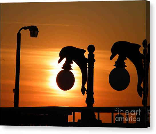 Sunset Lamp Canvas Print by Laurence Oliver