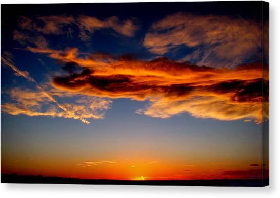 Sunset Layers Canvas Print by Aaron Burrows