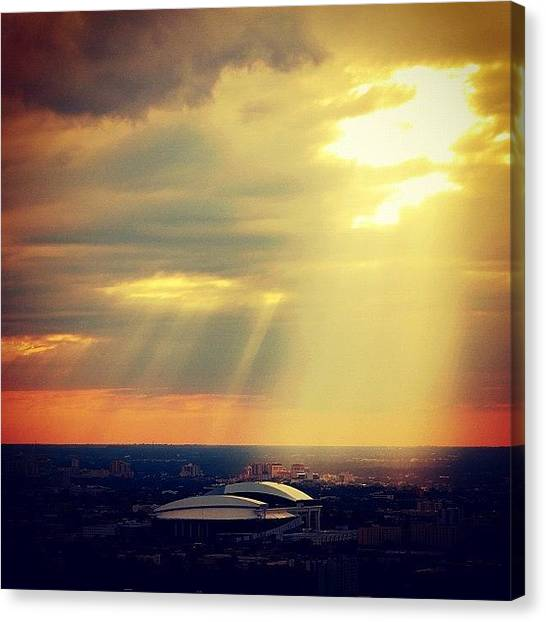 Miami Canvas Print - Sunset Lighting The New Miami Marlins by Joel Lopez