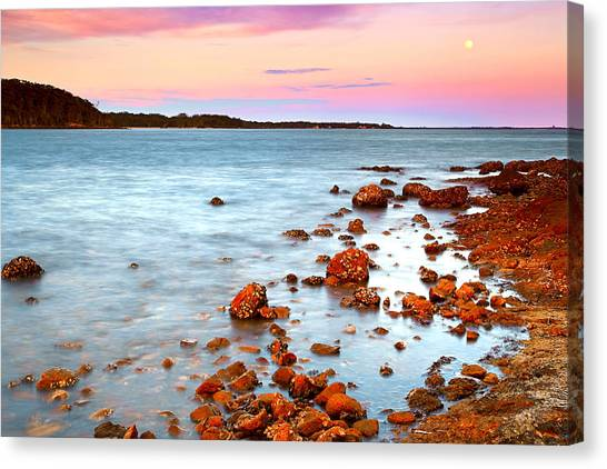 Sunset Moon Canvas Print