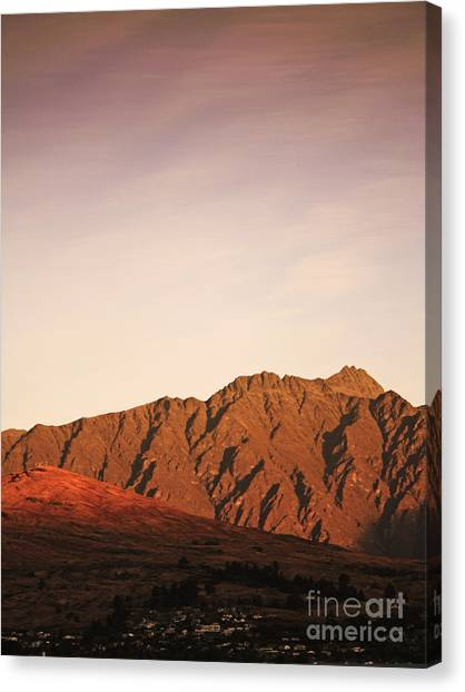 Mountain Sunrises Canvas Print - Sunset Mountain 2 by Pixel Chimp