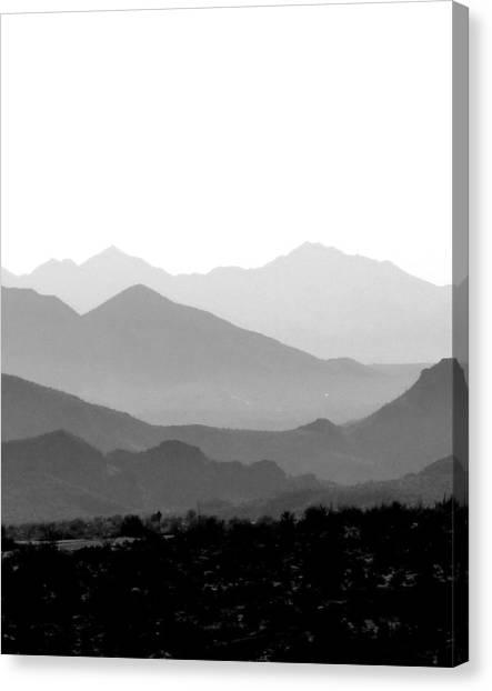 Sunset On Arizona Mountains Canvas Print by Joe Johansson