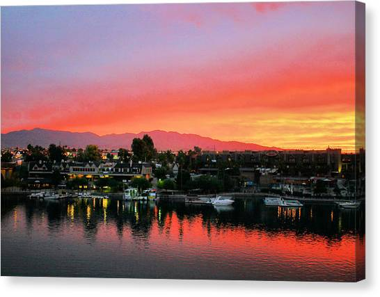 Sunset On Lake Havasu Canvas Print