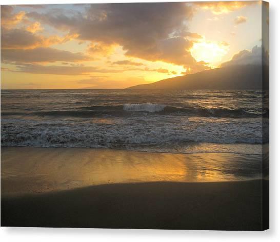 Sunset On Maui Canvas Print