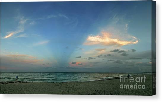 Sunset On The Atlantic Ocean Canvas Print by Richard Nickson