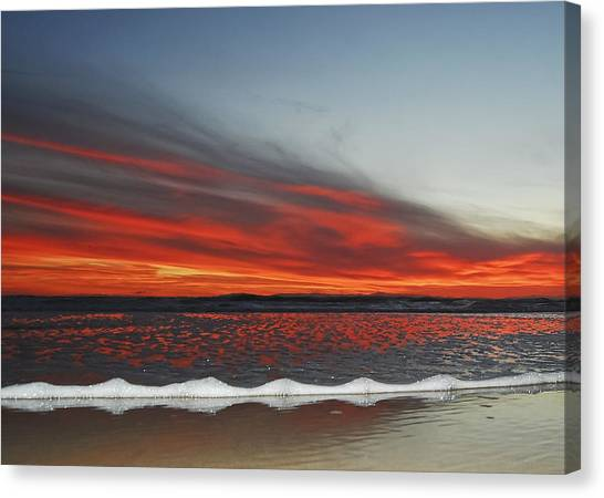 Sunset On The Edge Canvas Print
