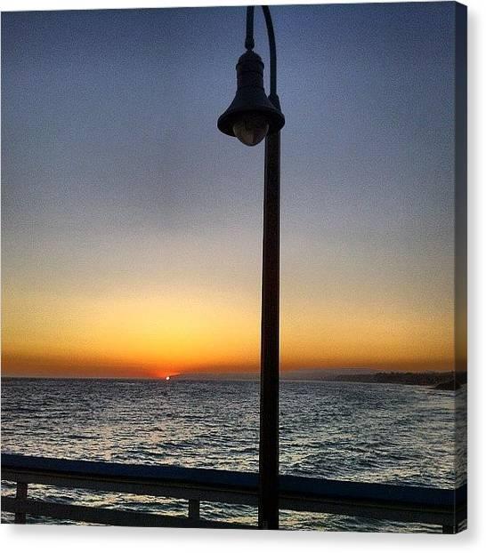 Ocean Sunsets Canvas Print - Sunset On The Pier. #sanclemente #pier by Paul Carter