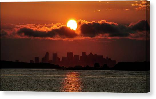 Sunset Over Boston Canvas Print