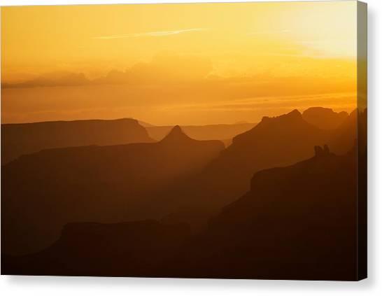 Sunset Over Grand Canyon Canvas Print by C Thomas Willard