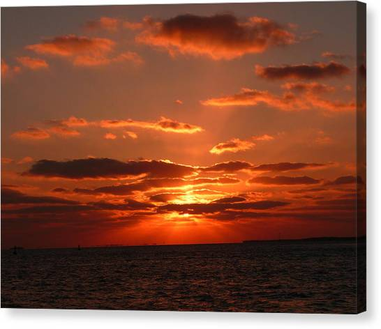 Sunset Over Key West Canvas Print