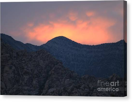Sunset Over Red Rock Canvas Print
